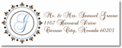 Name Doodles - Rectangle Address Labels/Stickers (Woodbury Brown)